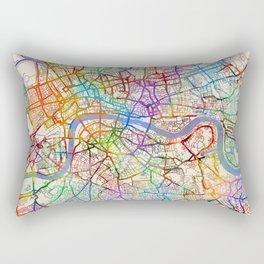 London England City Street Map Rectangular Pillow