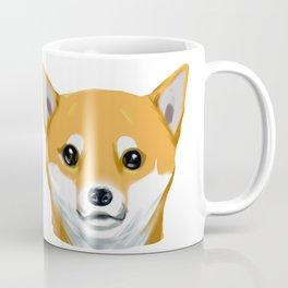 a shiba inu dog headshot Coffee Mug