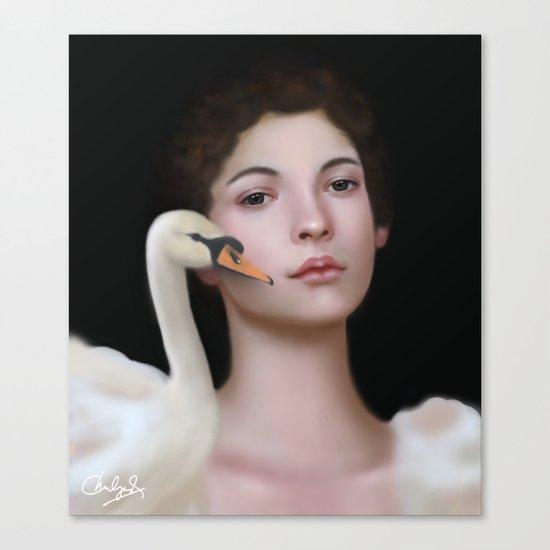 Miss Swan Canvas Print