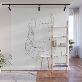 Glasses and hands Wall Mural