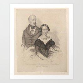 G Alboth Erzherzog Johann (of Austria and His Consort, Anna Marie) Art Print