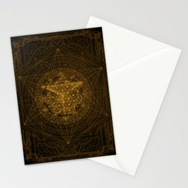 Dark Matter - Gold - By Aeonic Art Stationery Cards