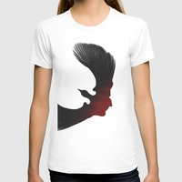 edgar allen poe T-shirts featuring Edgar Allen Poe and the Raven by Fay Bycroft
