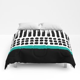 November Forest abstract pattern Comforters