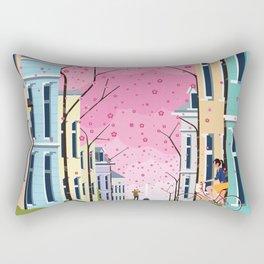 Aldstadt, Bonn ft. Cherry Blossom Rectangular Pillow