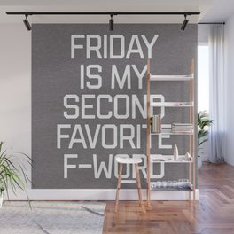 Favorite F-Word Funny Quote Wall Mural