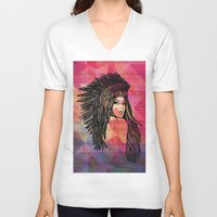 coachella V-neck T-shirts featuring RIVIERA by XD Art