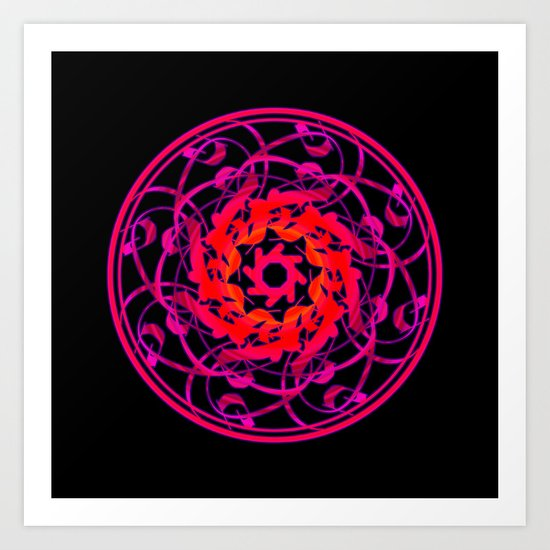 Love Mandala Art Print