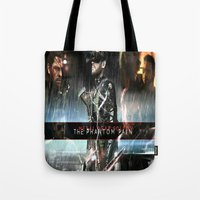metal gear solid Tote Bags featuring metal gear solid V  , metal gear solid V  games, metal gear solid V  blanket, by Eirarose