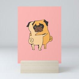 Pug Hugs Mini Art Print