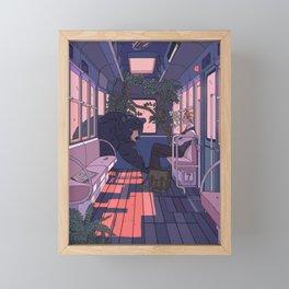 Paw Friendly Car Framed Mini Art Print