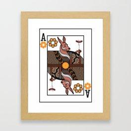 Australia Playing Card Framed Art Print
