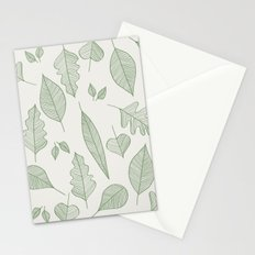 Falling Leaves Pattern I Light Stationery Cards