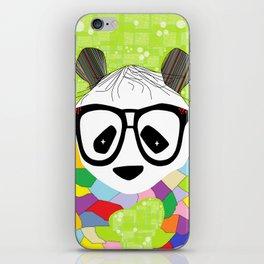 Hipster Panda iPhone Skin