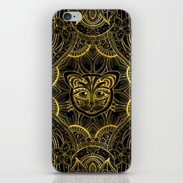 Gold Framed  Mandala Cat iPhone Skin
