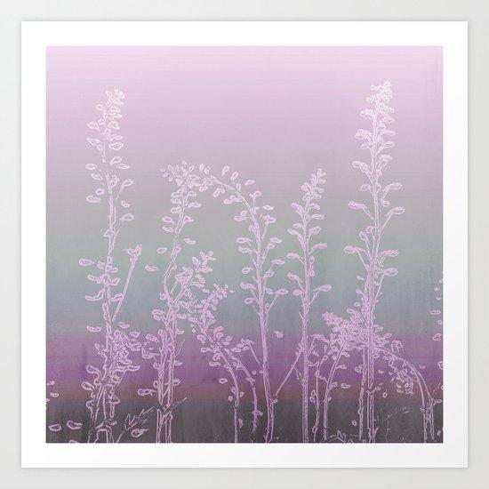 WILDFLOWERS - PINK GARDEN Art Print