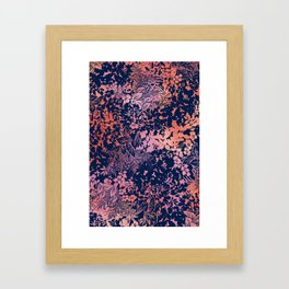 blanket of foliage in warm tones Framed Art Print