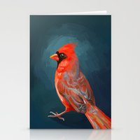 cardinal Stationery Cards featuring Cardinal by Freeminds