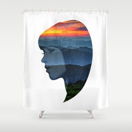 Sunsets on the Mountains Shower Curtain