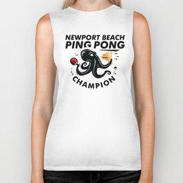 Newport Beach Ping Pong Classic Champion Biker Tank