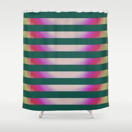 Teal Stripes Shower Curtain