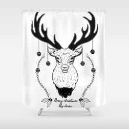 Merry christmas my deers Shower Curtain