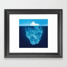Iceberg Polygon Framed Art Print