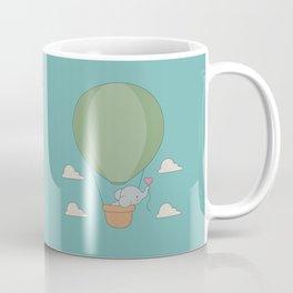 Kawaii Elephant Hot Air Balloon Coffee Mug