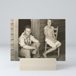 Floyd and Lucille Burroughs by Walker Evans Mini Art Print