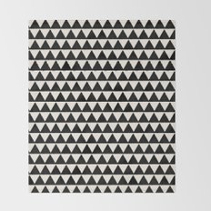 BLACK AND CREAM TRIANGLES Throw Blanket