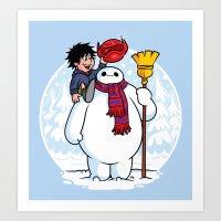 Inflatable Snowman Art Print