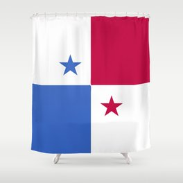 Panama flag emblem Shower Curtain