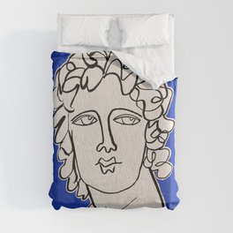 Alexander the Great statue Duvet Cover