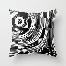 Black White Tiled Throw Pillow