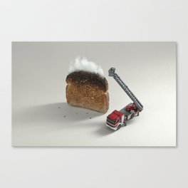 Toast on fire Canvas Print