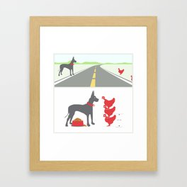 dane and chickens Framed Art Print