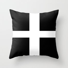 Flag of Cornwall Throw Pillow