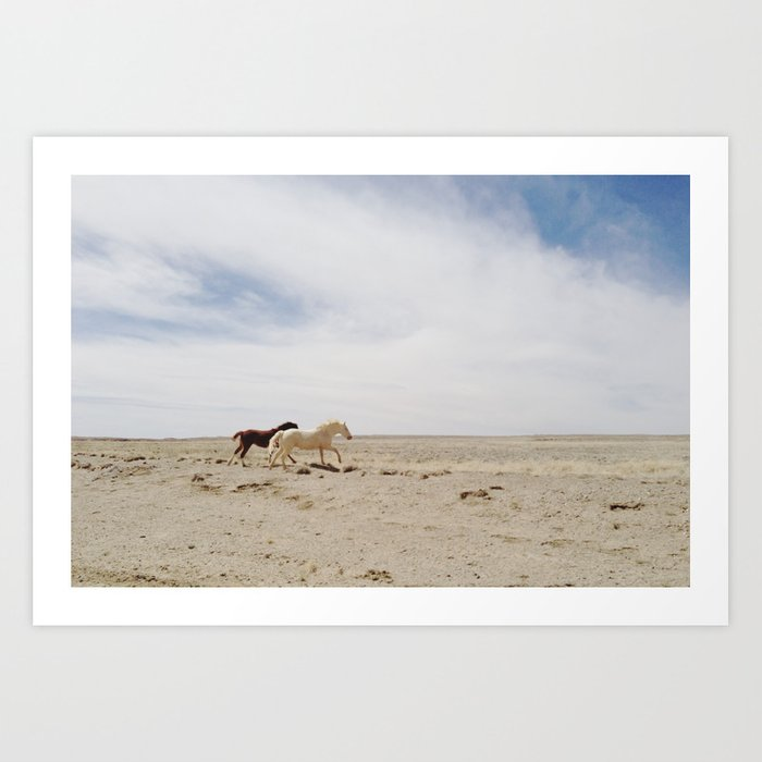 Bloomfield Horse Run Art Print