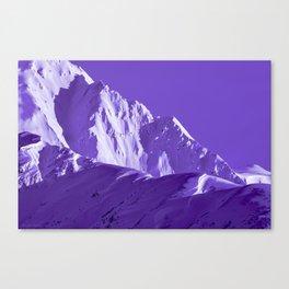 Alaskan Mts. I, Bathed in Purple Canvas Print