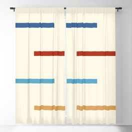 Abstract Minimal Retro Stripes Jivamukti Blackout Curtain