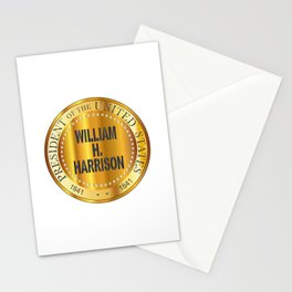 William H. Harrison Gold Metal Stamp Stationery Cards