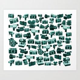 Cameras & Green Art Print