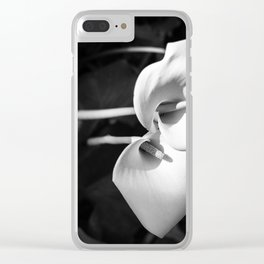 Giant White Calla Lily Clear iPhone Case