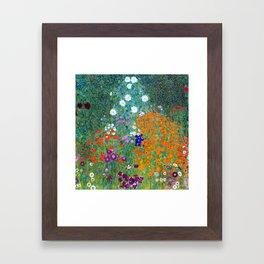 Gustav Klimt Flower Garden Framed Art Print