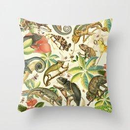 Chameleon Party Throw Pillow