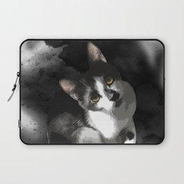 Gypsy Da Fleuky Cat and the Black Starry Night Laptop Sleeve
