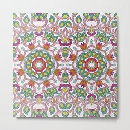 Colorful mandala on white background Metal Print