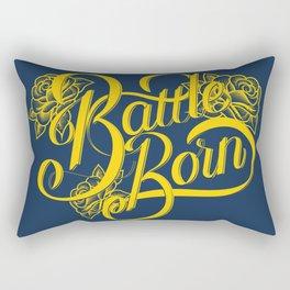 Battle Born - Blue & Gold Rectangular Pillow