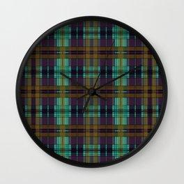 Colorful Plaid Wall Clock