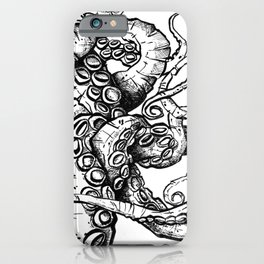 Tentacles in Ink - Octopus Drawing iPhone Case